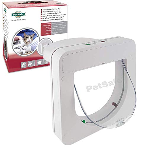 PetSafe Petporte Smart Flap Microchip Cat Door, Battery Operated or Main Power Supply, Easy Install, Customised Timer Feature, For Cats Up To 7kg