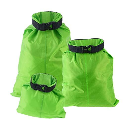 VILLCASE 3 unids 1.5l+2.5l+3.5l bolsa seca impermeable bolsa de almacenamiento bolsa para acampar canotaje kayak rafting pesca