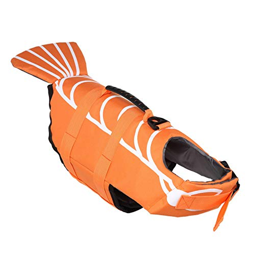 BVAGSS Hund Floatation Weste Schwimmweste Badeanzug Pet Life Saver Sicherheit Badeanzug Erhalter XH006 (L, Orange)