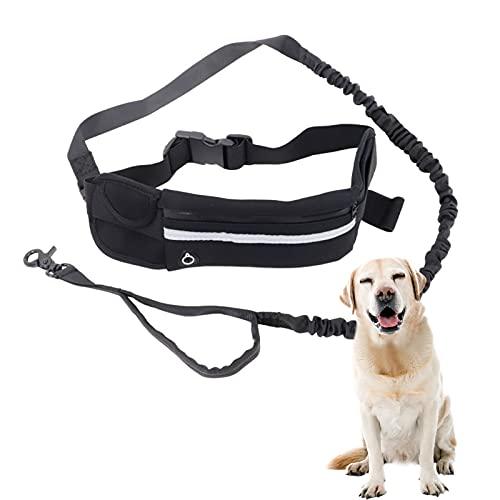 XNSHUN Joggingleine Freihandleinen Für Hunde, Hundegürtel Gürteltasche Hundeleine Zum Joggen, Verstellbarer Hüftgurt Und Reflektierende Laufleine Jogging Hundeleine Für Große Und Mittelgroße Hunde