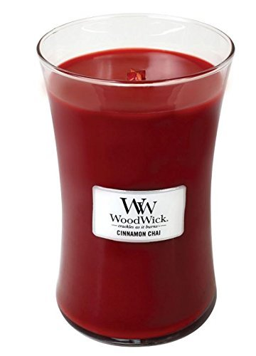 Cinnamon Chai Woodwick Candle in Glass Jar, Large - 21.5 Oz