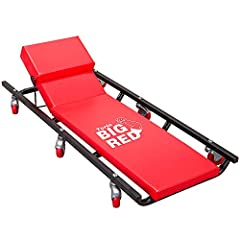 Rolling creeper bench/cart allows you to work in your garage or workshop in comfort Features a fully padded bench for your back and an adjustable, cushioned headrest for added positioning Constructed with heavy-duty tubular steel for stability and lo...