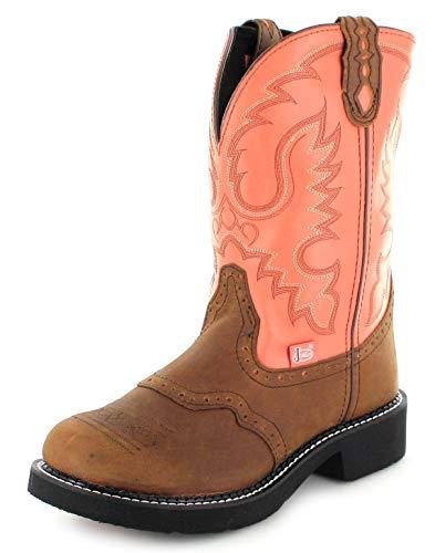 Justin Boots Damen Cowboy Stiefel L9907 Westernreitstiefel Lederstiefel Braun 39 EU