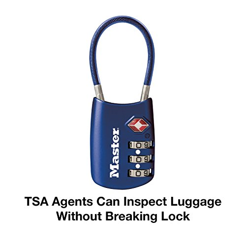 Master Lock 4688D Set Your Own Combination TSA Approved Luggage Lock, 1 Pack, Blue