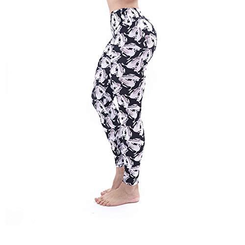 Pantalones de yoga con estampado 3D para mujer Leggings únicos de fitness Entrenamiento deportivo Leggings para correr Sexy Push Up Gym Wear Pantalones elásticos delgados-Tacones altos 2, Talla única