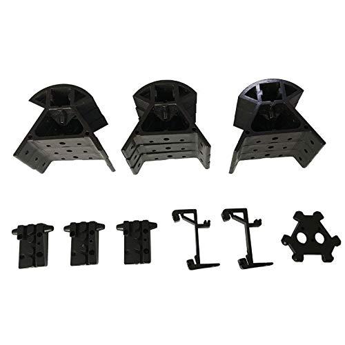 HUANRUOBAIHUO 1Set 3D-printer for Kossel K800 Injection Moulding Mount Frame Bottom Top Corner Vertex kit + Belt vaststelling glijbaan + twee-head Holder 3D Printer Parts (Size : 3pcs belt sliders)