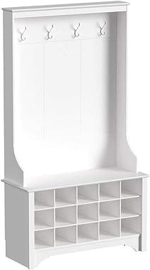 Prepac Shoe Storage Hall Tree, White