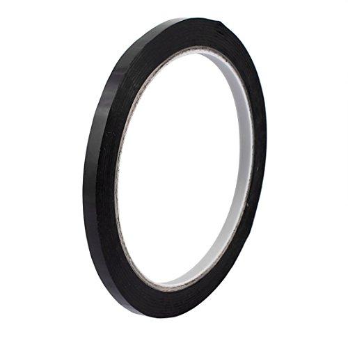 sourcingmap® 5mm Einseitig starke selbstklebende Folie Klebeband Mylarband 50M Länge schwarz DE de