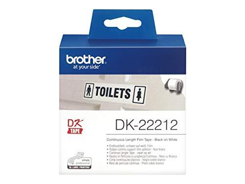 Brother DK22212 DK-22212 Endlos-Etiketten Film, 62 mm x 15,24 m