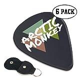 Arctic Monkey ギターピック 6枚/セット ウクレレ エレキギター 3種厚さ プリントデザイン ファッション 目立ち バリ無し 尖らず