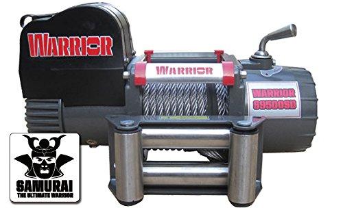 Warrior Winch 95SDA12 Warrior Samurai C9500-Cabrestante eléctrico (4,3 t, cable de plástico,...