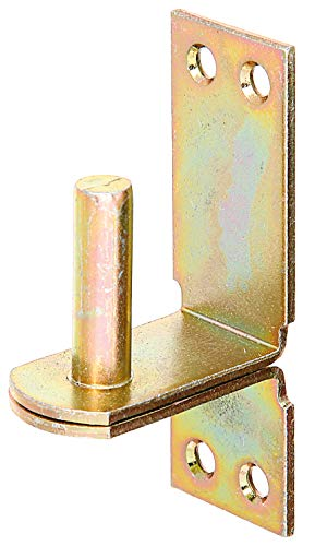 GAH-Alberts 311469 Kloben auf Platte | in den Ausführungen mit DI oder DII-Haken | galvanisch gelb verzinkt | Dornmaß Ø16 mm | Platte 113 x 40 mm