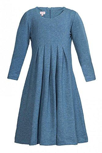 La-V Mädchenkleid Taubenblau H104/Größe 128