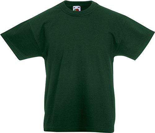 Fruit of the Loom - T-shirt - - Uni - Crew - Manches courtes Garçon vert Bottle Green 9-11 Years