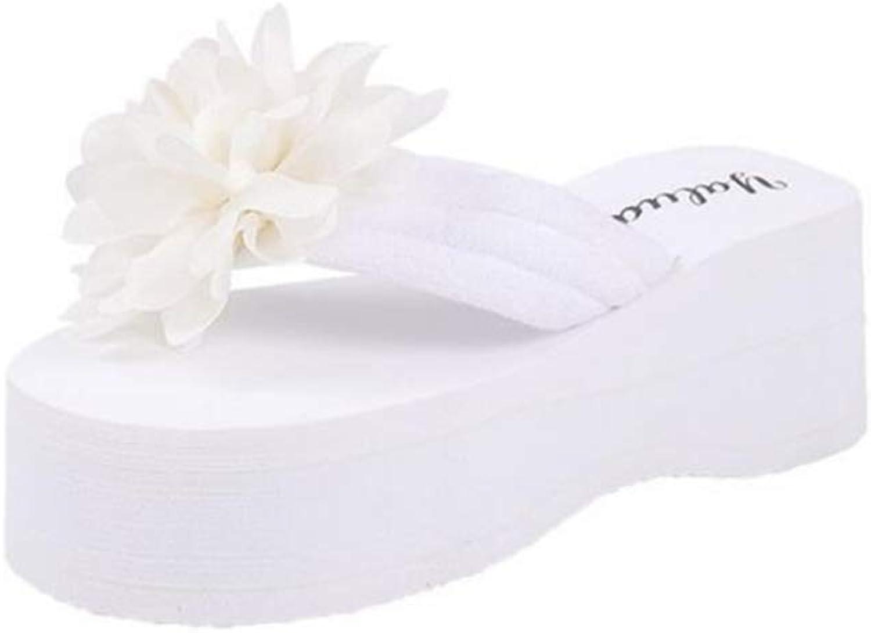 Summer Woman's Flower Flip-Flops Beach Slope Comfort Casual Sandals