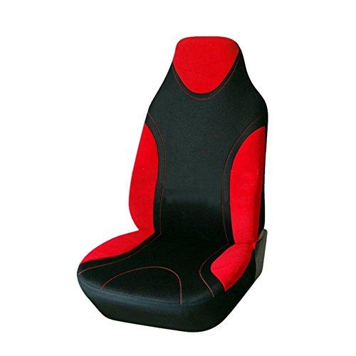 Sue-Supply Sitzbezüge für Auto Einzelsitzbezug Vordere Schonbezüge Sitzbezug Universal Sitzbezug Schonbezug Autositz, Grau/Blau/Rot/Gelb (Rot)