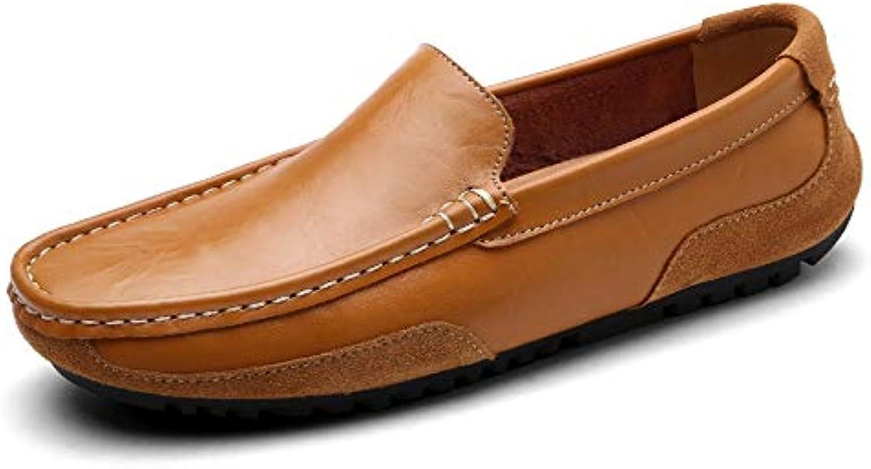 Tillfälliga Tillfälliga Tillfälliga skor, herrskor, herrskor med ytlig mun, herrskor, läderskor.(Färg  Gul, Storlek  40)  det senaste varumärket outlet online