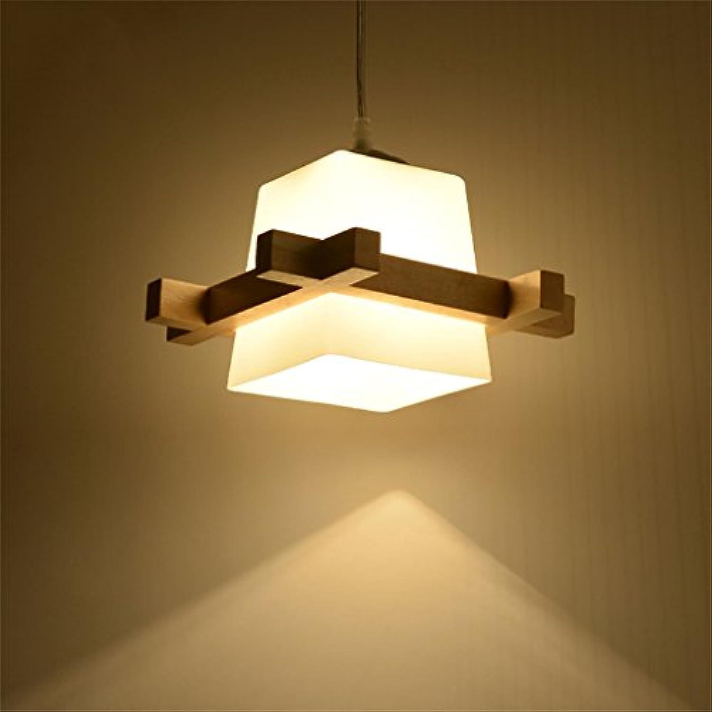 LSX Leuchter Massivholz Kronleuchter, Nordic Holz Kunst japanischen Kronleuchter, einfache moderne kreative Wohnzimmer Esszimmer Schlafzimmer Persnlichkeit Kronleuchter, E27 Lampe, Dropped 100cm (ein