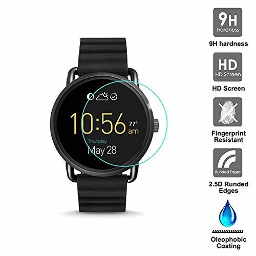 KAIBSEN® für Fossil Q Wander Smart Watch 2.5D gehärteter Glasschirm Schutz, HD Clear Glass Film No-Bubble, 9H Härte, Kratz Widerstand