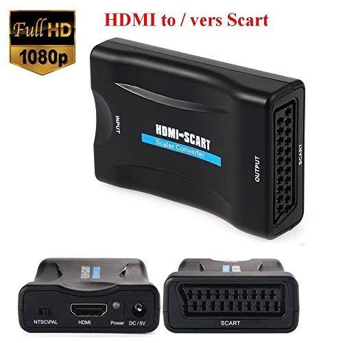 Emebay - Euroconector, 1080p, HDMI a SCART, CRT, TV, VHS VCR, DVD soporte NTSC PAL