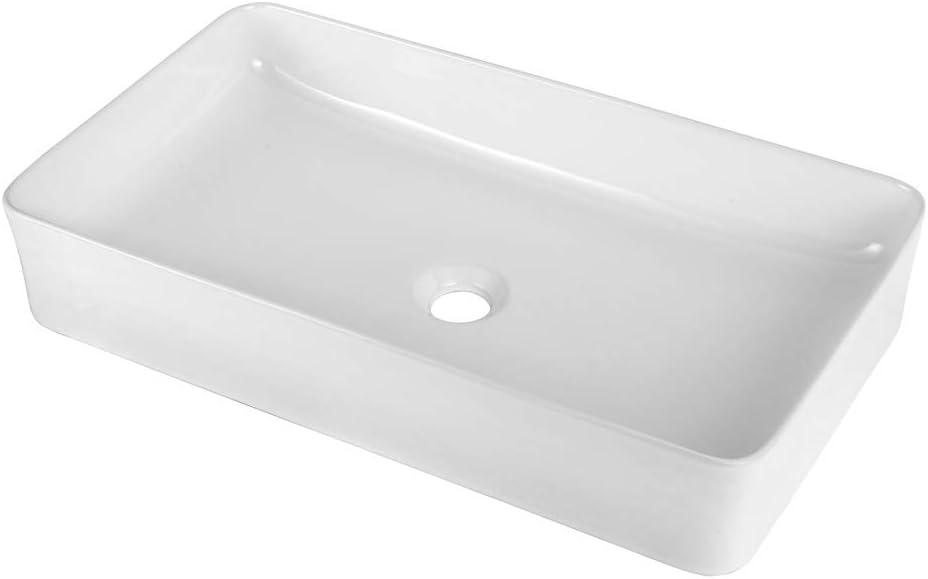 Vessel Sink Rectangle online New Shipping Free Shipping shopping - Sarlai Rectangular Above Modern 24