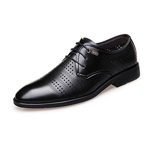 Formaat, plat, ademende heren Lace Up Business schoenen, modieus, nonchalant van echt leer, ademend, geperforeerde bovenste gevoerde schoenen, Oxford Shoes voor heren