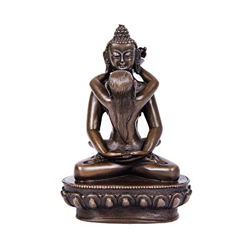 Toperkin Yab-Yum Bronze Buddha Statue Buddhist Sculpture Decoration TPFX-022