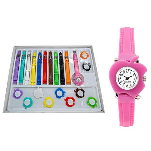 Rich Club Analogue Women's & Girls' Watch (Pink & White Dial Pink Colored Strap)