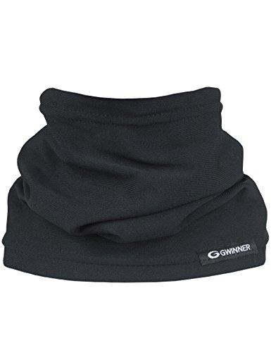Gwinner Combo II Skimaske Kälteschutz Gesichtsmaske - 2 Stoffschichten (Schwarz, XXL)