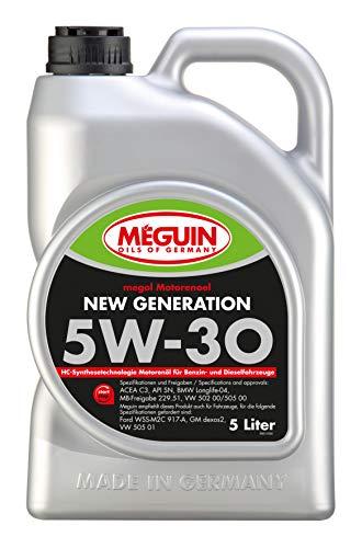 Meguin 6513 megol Motoröl New Generation SAE 5W-30, 5 L