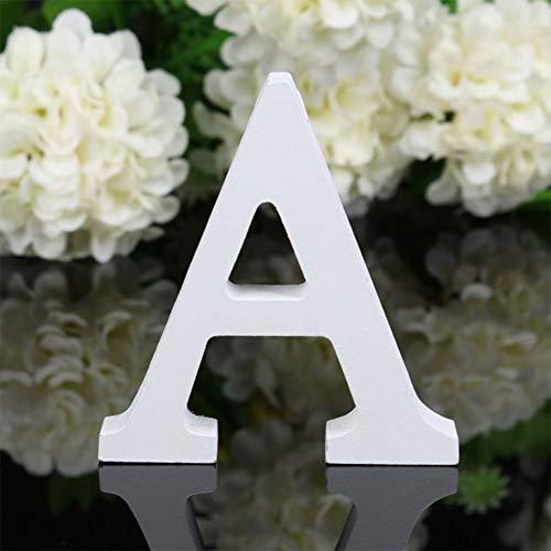 X-DAAO 26 Grandes Lettres en Bois de l'alphabet à Suspendre au Mur Décoration de la Maison Cadeau A