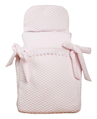 Babyline Sweet - Saco de 3 usos para capazo y silla, color rosa