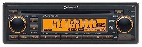 Continental CDD7428UB-OR 24 Volt - CD/MP3-Autoradio mit Bluetooth / DAB / USB / AUX-IN