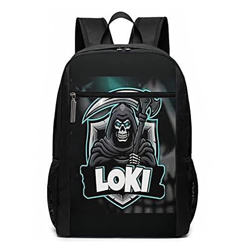 L-o-k-i - Mochila antirrobo para ordenador portátil, mochila de viaje de negocios