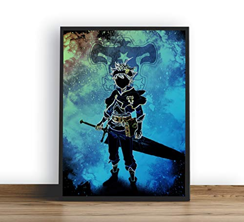 Quadro Decorativo Poster Anime Black Clover Asta