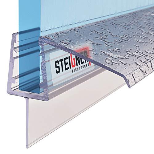 STEIGNER Duschdichtung, 80cm, Glasstärke 5/6/ 7 mm, Gerade PVC Ersatzdichtung für Dusche, UK21