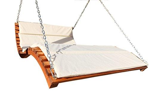 ASS Design Hollywoodliege 'Aruba-Lounger' aus Holz Lärche (ohne Gestell) von Farbe:Cremeweiss