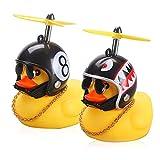 N|A 2 Stück gelbe Ente Auto-Armaturenbrett-Dekorationen, lustige Gummiente Spielzeug mit...