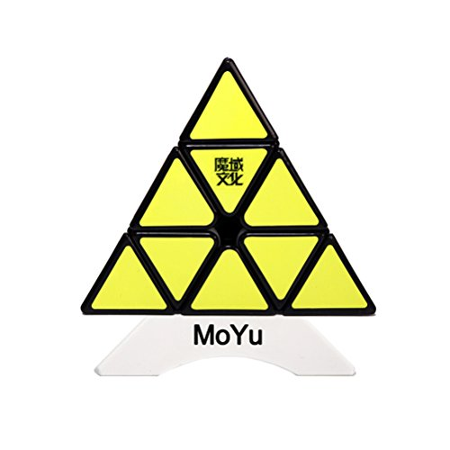 YongJun MoYu Magnetic Pyramid triangle Pyramid Magic Cube Magnetic Pyraminx Speed Puzzle Cube Triangle Pyramid Magic Cube Speed Puzzle Twist Toy (Black)