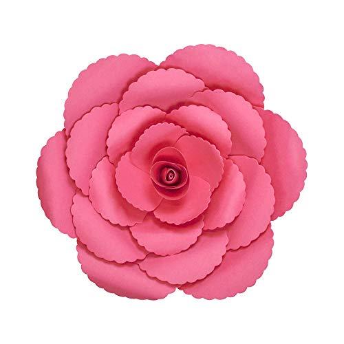 SKYLANTERN Fleur en Papier Rose Ancienne Fuchsia 30 cm