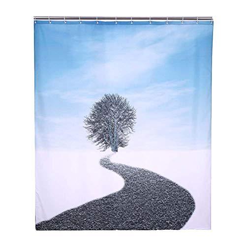 FYYTRL Cortina de Ducha de impresión 3D de Lonely Tree, concepción artística, Espesa poliéster, Impermeable y Moho, Cortina de Parasol,200cm*200cm