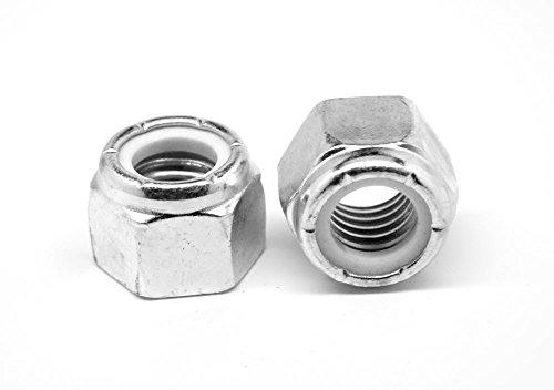 1//2-13 Stainless Steel Nylon Insert Lock Hex Nut UNC Nylock Qty 25
