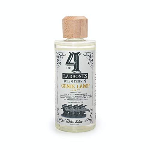 Boles d'olor Perfume de Hogar para Lámparas Catalíticas Genie Lamp. Eliminan el 99.9% de los virus, Hongos y Esporas - 500 ml (Los 4 Ladrones)