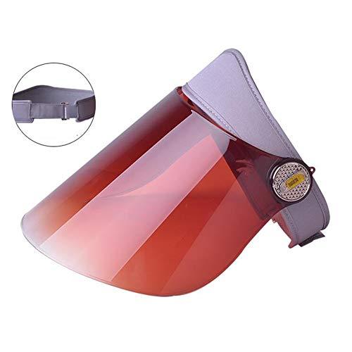 Sombreros Sol Sombrero Soleado Visera Protección UV Ajustable Ángulo Con Tintado Transparente...