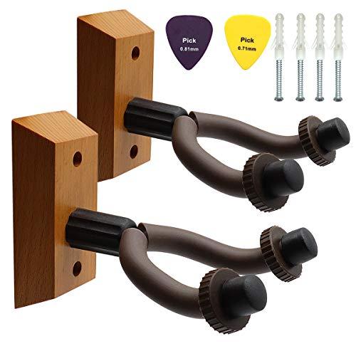 2 piezas Percha de guitarra,Soporte de pared para guitarra de servicio pesado,...