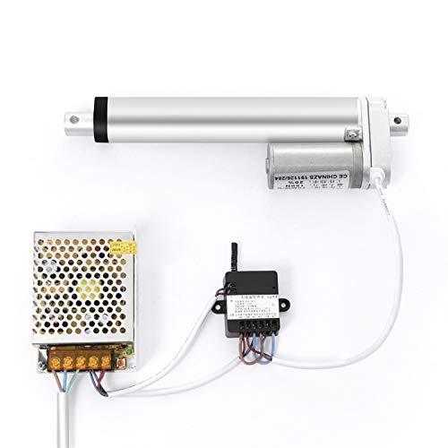 Auart Zyilei- Motor Gleichstrom 12V elektrischer linearer Stellantrieb, RF-Fernbedienung, für öffnende und Enge Auto-Trunk-Türen Windows, DC-lineare Stromversorgung, Verschleißfest