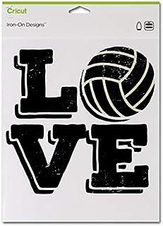 Cricut Iron-on Designs Love Volleyball 8.5X12