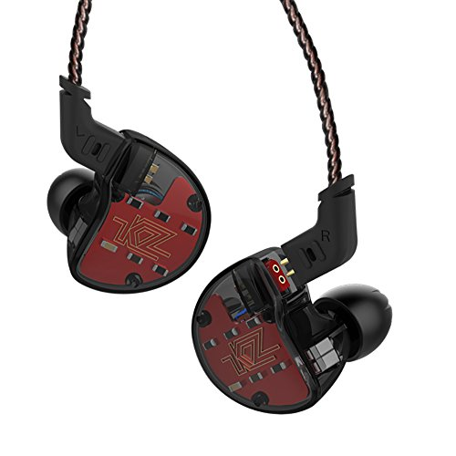 Linsoul KZ ZS10 5 Drivers in Ear Monitors High Resolution Earphones/Earbuds with Detachable Cable (Without Mic, Black)