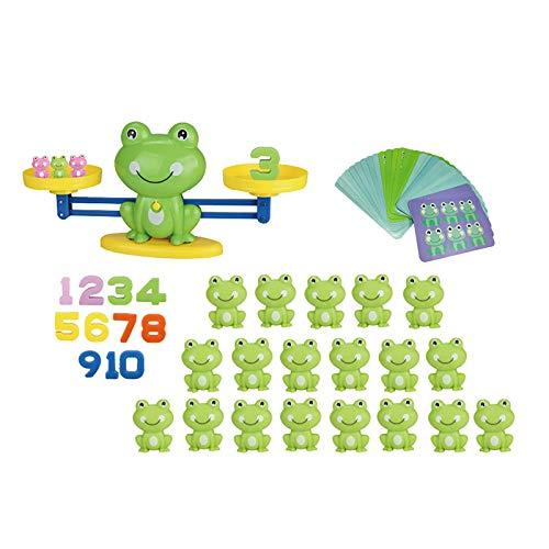 Rana Balance Counting Juegos de Matemáticas – Juguete de juego de equilibrio de rana, juego de números matemáticos Druso, juguete de número de aprendizaje educativo, regalo para los niños