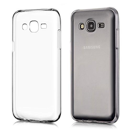 kwmobile Cover compatibile con Samsung Galaxy J5 (2015) - Custodia in silicone TPU - Back Case protezione posteriore - trasparente